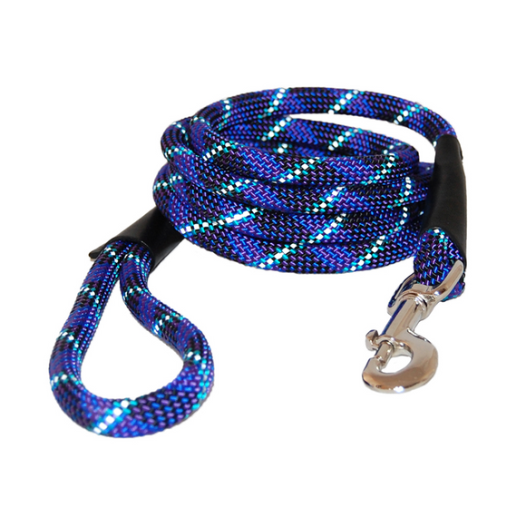Reflective Rope Leash ~ Blue - Le Pet Luxe