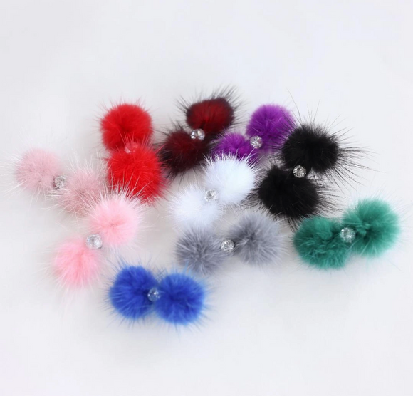 Dog Pom Pom Barrette - Le Pet Luxe