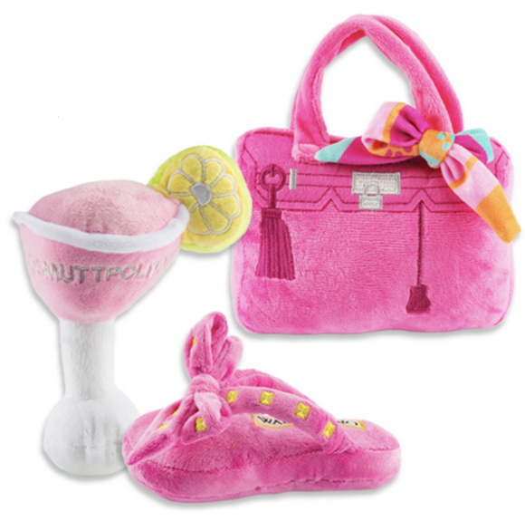 Pretty in Pink Bundle Dog Plush Toy - Le Pet Luxe