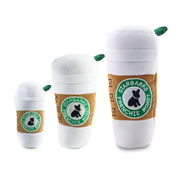 Starbarks Coffee Cup with Lid Plush Dog Toy - Le Pet Luxe