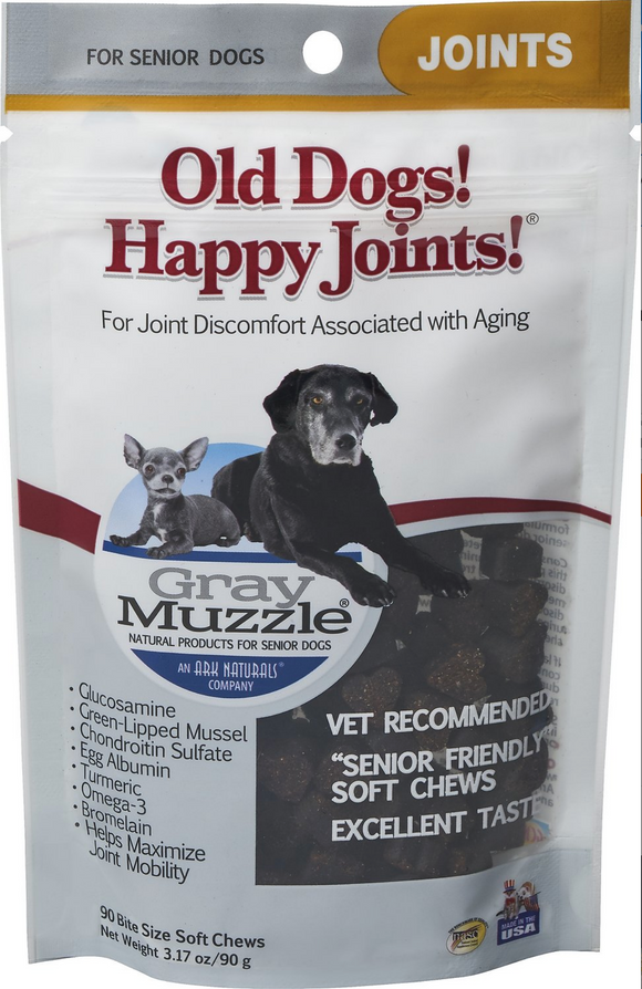 Ark Naturals Grey Muzzle Joint Health Senior Dog Treats, 3.17-oz bag, 90 count - Le Pet Luxe