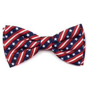 Stars and Stripes Dog Bow Tie - Le Pet Luxe