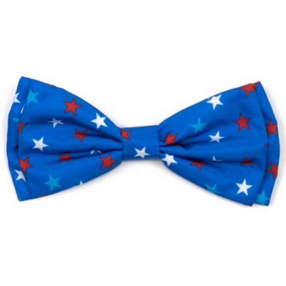 Patriotic Stars Dog Bow Tie - Le Pet Luxe