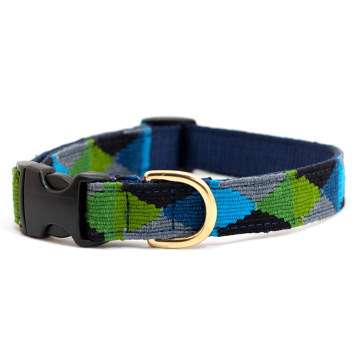 A tail we could wag Side-Release Dog Collar ~ Retro, Argyle, Maui - Le Pet Luxe