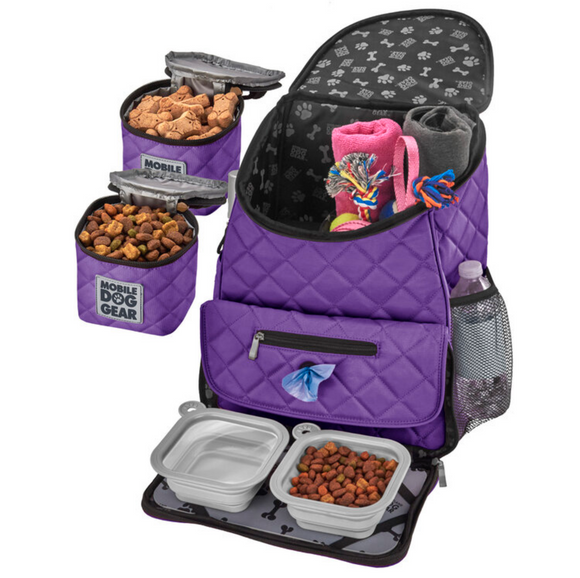 Weekender Backpack ~ Purple (All Size Dogs) - Le Pet Luxe