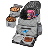 Weekender Backpack ~ Grey (All Size Dogs) - Le Pet Luxe