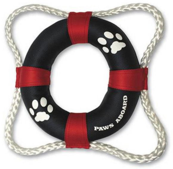 Paws Aboard Life Ring Toy - Le Pet Luxe