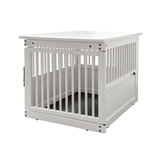 Wooden End Table Crate ~ White - Le Pet Luxe