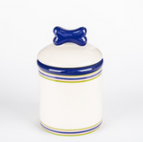 Preppy Stripe Ceramic Bowls & Treat Jars - Le Pet Luxe