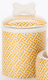 Gold Trellis Bowls and Treat Jars Collection - Le Pet Luxe