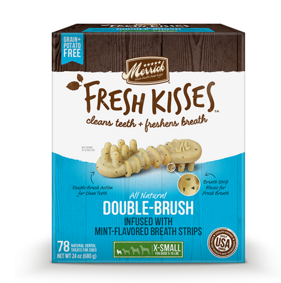 Merrick Fresh Kisses ~ Mint Breath Strips: Box - Le Pet Luxe