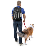 Week Away® Drop Bottom Backpack ~ Black - Le Pet Luxe