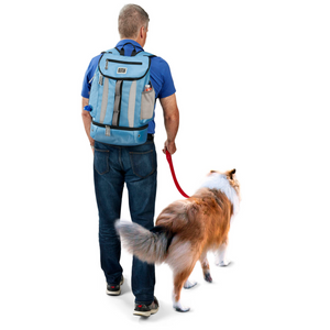 Week Away® Drop Bottom Backpack ~ Blue - Le Pet Luxe