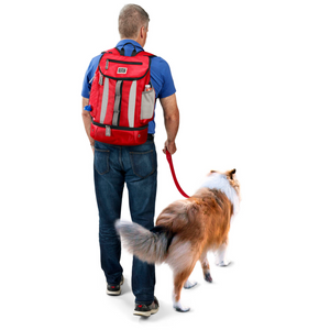 Week Away® Drop Bottom Backpack ~ Red - Le Pet Luxe
