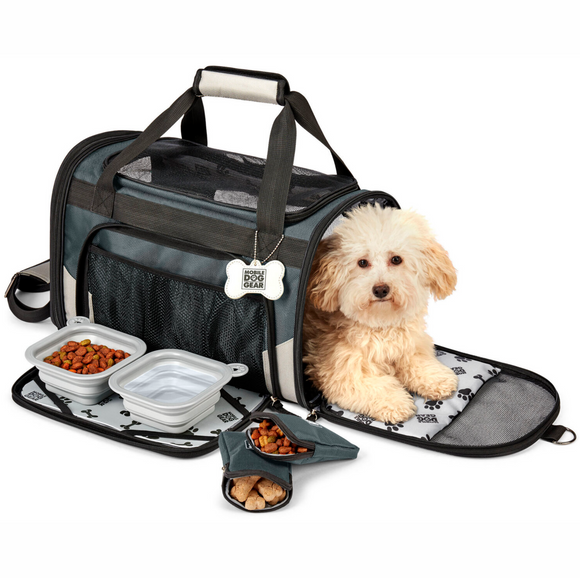Pet Carrier Plus ~ Grey - Le Pet Luxe
