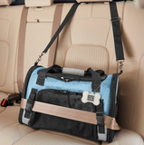 Pet Carrier Plus ~ Blue - Le Pet Luxe