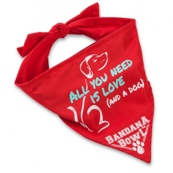 Bandana Bowl ~ Red - Le Pet Luxe