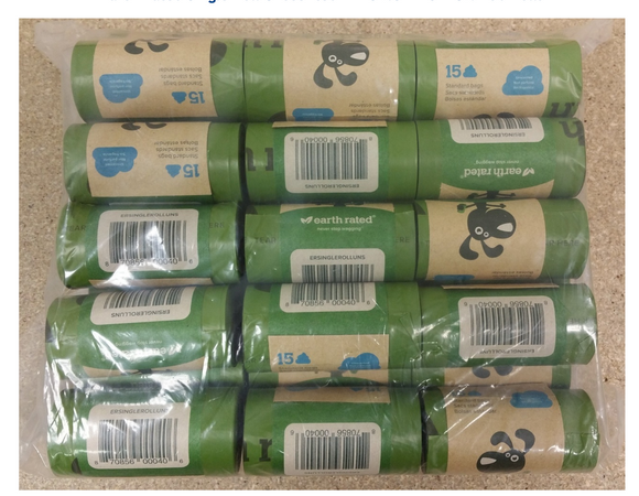 Earth Rated Single Rolls (30 Rolls) ~ Unscented - Le Pet Luxe