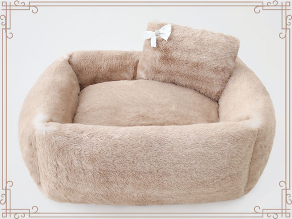 Teddy Bear ~ Rectangle Dog Bed - Le Pet Luxe