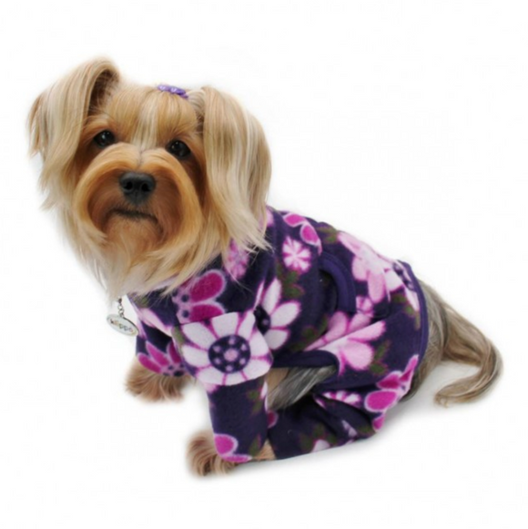 Midnight Garden Fleece Turtleneck Pajamas - Le Pet Luxe