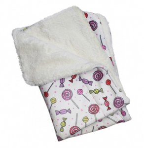 Ultra Soft Minky/Plush Sweet Candies Dog Blanket - Le Pet Luxe
