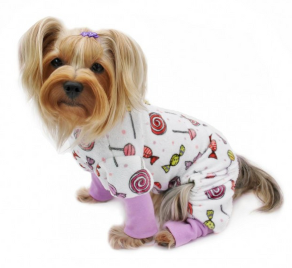 Ultra Soft Minky Sweet Candies Dog Pajamas - Le Pet Luxe