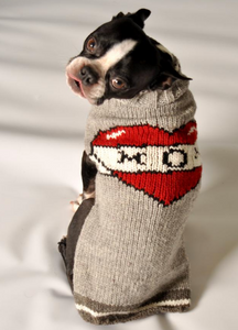 Tattooed Mom Wool Dog sweater - Le Pet Luxe