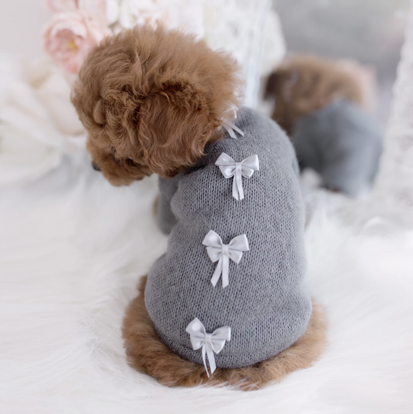 Dainty Bow Dog Sweater - Le Pet Luxe