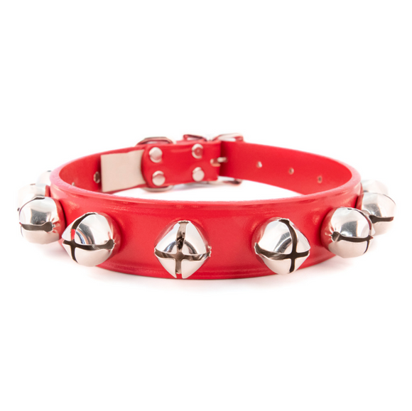 Jingle Bell Christmas Dog Collar ~ Red - Le Pet Luxe