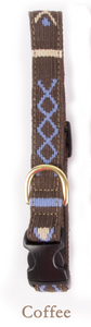 A tail we could wag Side-Release Dog Collar ~ Block Island Coffee - Le Pet Luxe