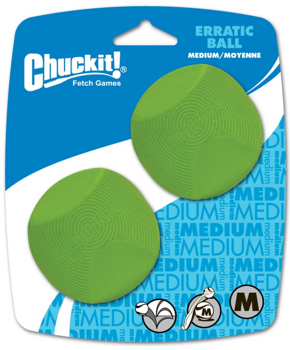 Chuckit! Erratic Ball Medium 2pk - Le Pet Luxe