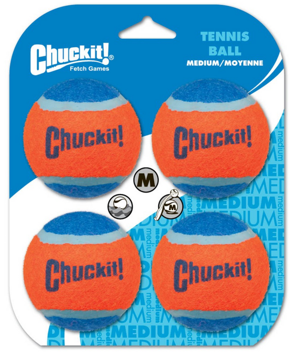 Chuckit! Tennis Balls Medium 4 pk - Le Pet Luxe
