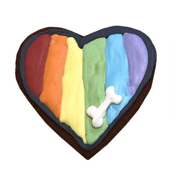 Pride Hearts (Case of 12) Dog Treats - Le Pet Luxe
