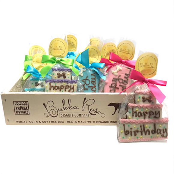 Individually Wrapped Birthday Cookie Set (case of 12) Dog Treats - Le Pet Luxe