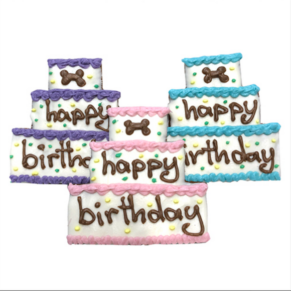Birthday Cake Dog Treats (case of 8) - Le Pet Luxe