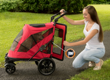Excursion NO-ZIP Pet Stroller ~ Candy Red - Le Pet Luxe