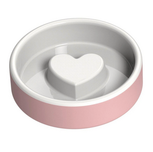 Slow Feeder Dog Food Bowl ~ Pink - Le Pet Luxe