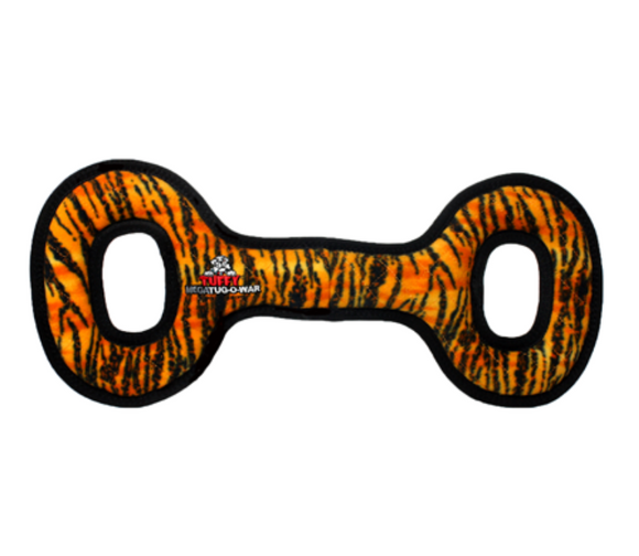 Mega Tug Oval Dog Toy ~ Tiger - Le Pet Luxe