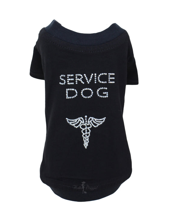 Service Dog Shirt ~ Black - Le Pet Luxe
