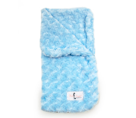Snuggle Pup Sleeping Bag Dog Blanket ~ Blue - Le Pet Luxe