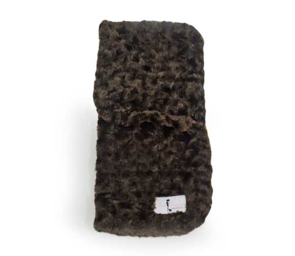 Snuggle Pup Sleeping Bag Dog Blanket ~ Chocolate - Le Pet Luxe