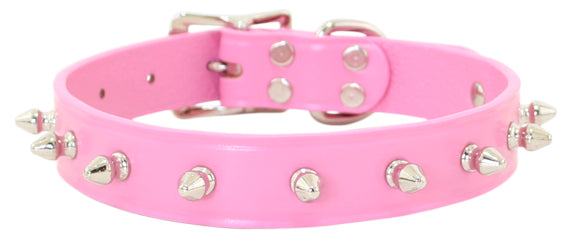 Spike Dog Collar ~ Pink