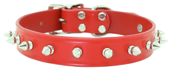Spike Dog Collar ~ Red