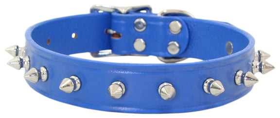 Spike Dog Collar ~ Royal Blue