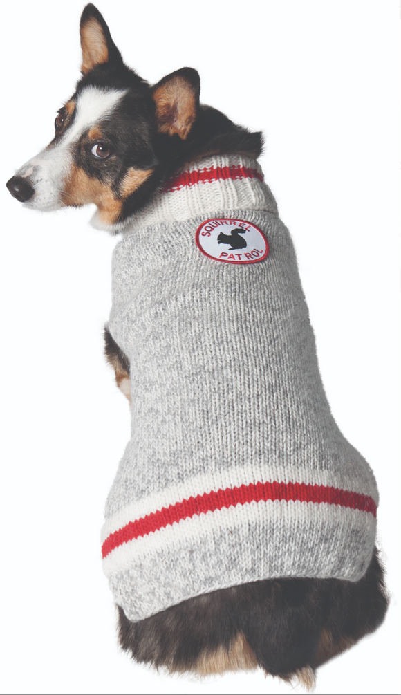 Squirrel Patrol Patrol Wool Dog Sweater - Le Pet Luxe