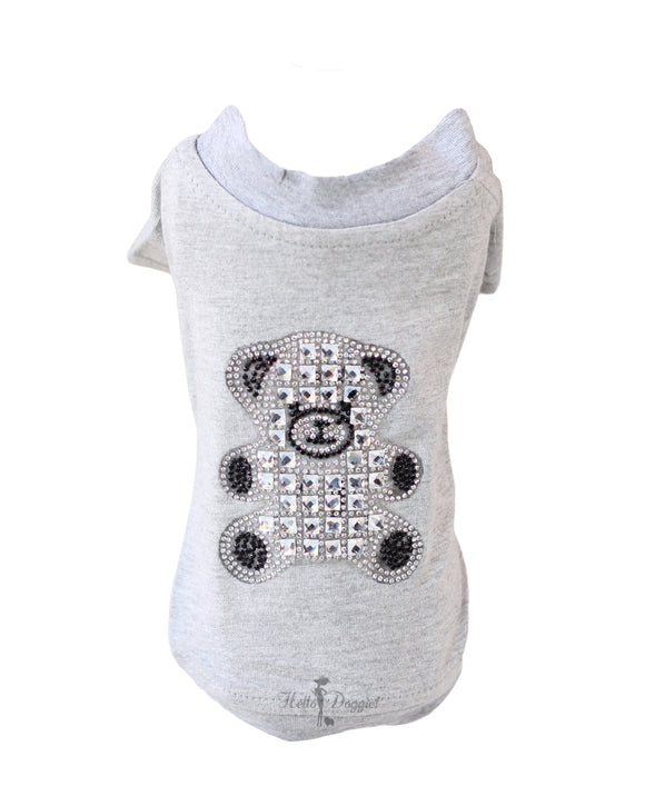 Teddy Bear Dog Shirt ~ Grey - Le Pet Luxe