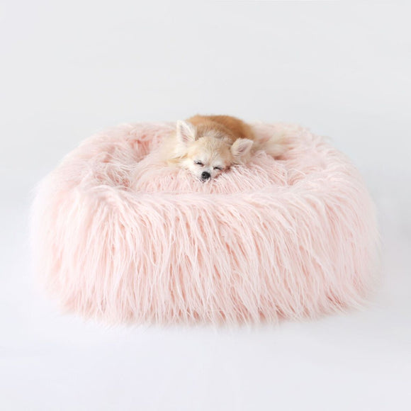 Himalayan Yak Bed ~ Peach - Le Pet Luxe