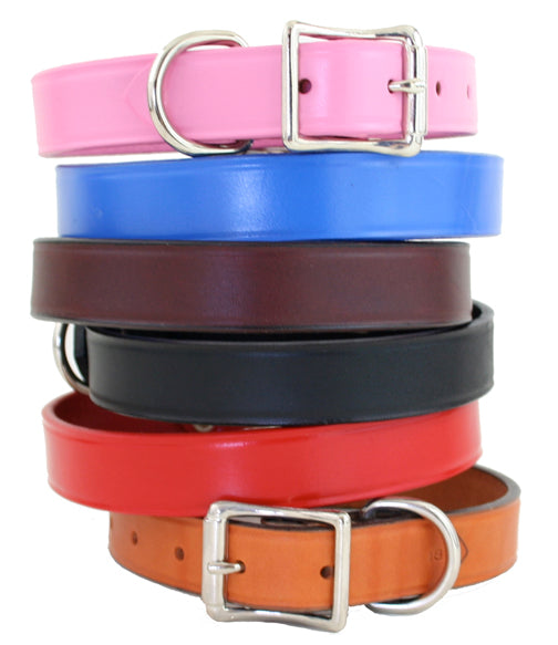 Town Leather Dog Collar ~ Fun Colors