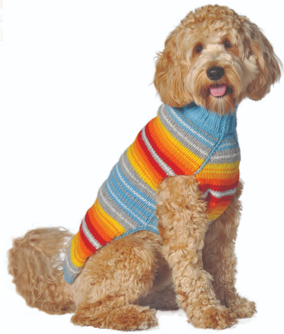 Turquoise Serape Dog Sweater - Le Pet Luxe