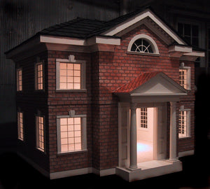 La Petite Maison  Custom Brick Mansion Dog House - Le Pet Luxe